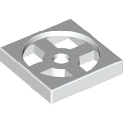 White Turntable 2 x 2 Plate, Base - new