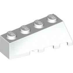White Wedge 4 x 2 Sloped Left