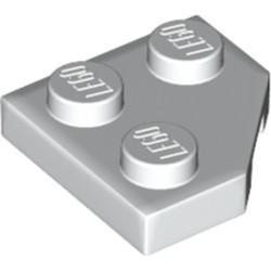 White Wedge, Plate 2 x 2 Cut Corner