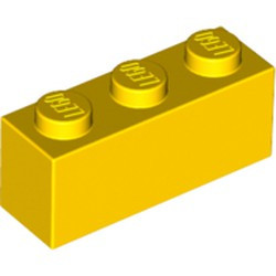 Yellow Brick 1 x 3