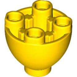 Yellow Brick, Round 2 x 2 Dome Bottom with Studs