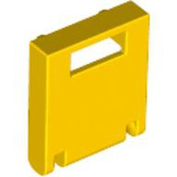 Yellow Container, Box 2 x 2 x 2 Door with Slot - used
