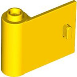 Yellow Door 1 x 3 x 2 Left - Open Between Top and Bottom Hinge - used