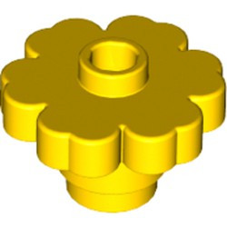 Yellow Plant Flower 2 x 2 Rounded - Open Stud
