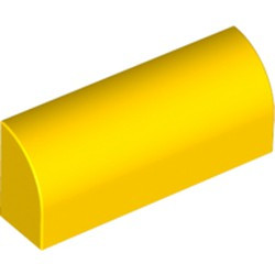 Yellow Slope, Curved 1 x 4 x 1 1/3 - used