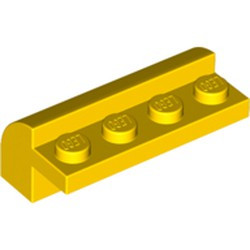 Yellow Slope, Curved 2 x 4 x 1 1/3 with Four Recessed Studs - used