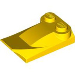 Yellow Slope, Curved 3 x 2 x 2/3 with Two Studs, Wing End - used