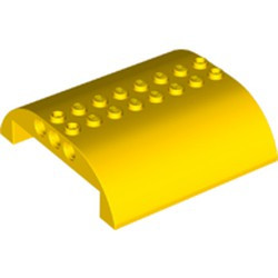 Yellow Slope, Curved 8 x 8 x 2 Double - new