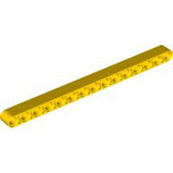 Yellow Technic, Liftarm 1 x 15 Thick - new