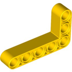 Yellow Technic, Liftarm 3 x 5 L-Shape Thick - new