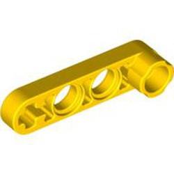 Yellow Technic, Liftarm, Modified Stud Connector Thin 1 x 4