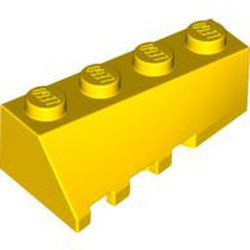 Yellow Wedge 4 x 2 Sloped Right