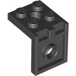 Black Bracket 2 x 2 - 2 x 2 with 2 Holes - used