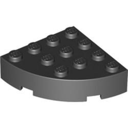 Black Brick, Round Corner 4 x 4 Full Brick - used