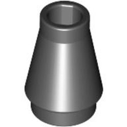Black Cone 1 x 1 without Top Groove