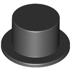 Black Minifigure, Headgear Hat, Top Hat - used