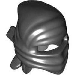 Black Minifigure, Headgear Ninja Wrap - used