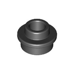 Black Plate, Round 1 x 1 with Open Stud - new