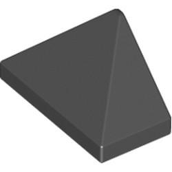Black Slope 45 2 x 1 Triple with Bottom Stud Holder
