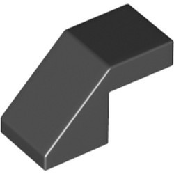 Black Slope 45 2 x 1 with Cutout without Stud