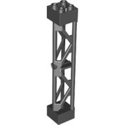 Black Support 2 x 2 x 10 Girder Triangular Vertical - Type 3 - 3 Posts, 2 Sections - used