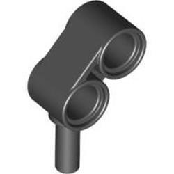 Black Technic, Liftarm 1 x 2 with Bar - used