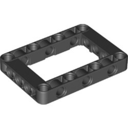 Black Technic, Liftarm 5 x 7 Open Center Frame Thick - new