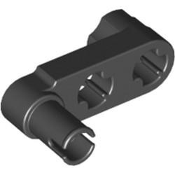 Black Technic, Liftarm, Modified Crank / Pin 1 x 3 - Axle Holes