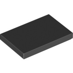 Black Tile 2 x 3 - new