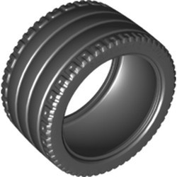 Black Tire 81.6 x 44 ZR Technic Straight Tread - new