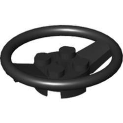 Black Vehicle, Steering Wheel with 2 x 2 Center