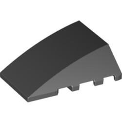 Black Wedge 4 x 4 No Studs - used