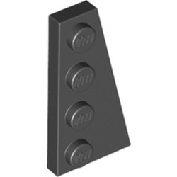 Black Wedge, Plate 4 x 2 Right - new