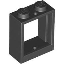 Black Window 1 x 2 x 2 Flat Front - used
