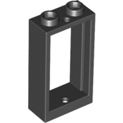 Black Window 1 x 2 x 3 Flat Front