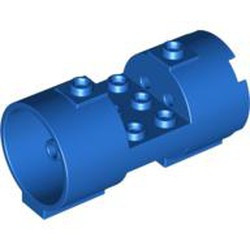 Blue Cylinder 3 x 6 x 2 2/3 Horizontal - Square Connections Between Interior Studs