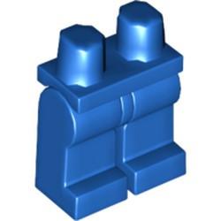 Blue Minifigure, Legs with Hips - Monochrome