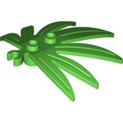 Bright Green Plant Leaves 6 x 5 Swordleaf with Open O Clip Thick - new