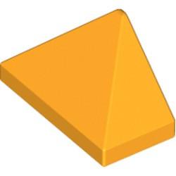 Bright Light Orange Slope 45 2 x 1 Triple with Bottom Stud Holder - new