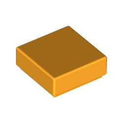 Bright Light Orange Tile 1 x 1 with Groove (3070) - new