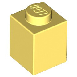 Bright Light Yellow Brick 1 x 1 - new