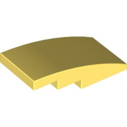 Bright Light Yellow Slope, Curved 4 x 2 - new