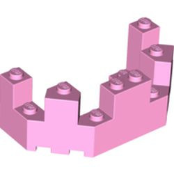 Bright Pink Castle Turret Top 4 x 8 x 2 1/3