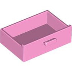 Bright Pink Container, Cupboard 2 x 3 Drawer
