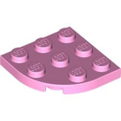 Bright Pink Plate, Round Corner 3 x 3