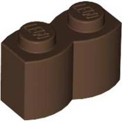 Brown Brick, Modified 1 x 2 Log - used
