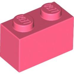 Coral Brick 1 x 2 - new
