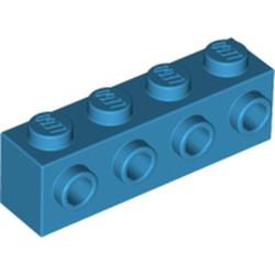 Dark Azure Brick, Modified 1 x 4 with 4 Studs on 1 Side