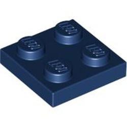 Dark Blue Plate 2 x 2 - used