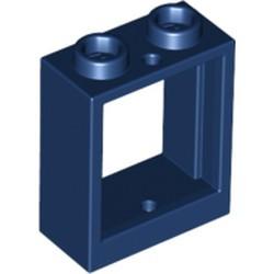 Dark Blue Window 1 x 2 x 2 Flat Front - new